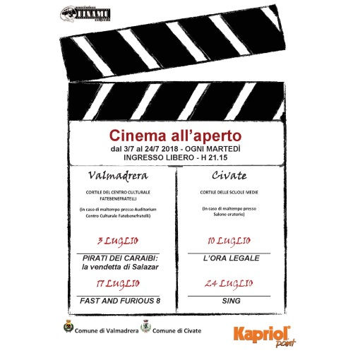 Cinema All'aperto 2018 - Valmadrera